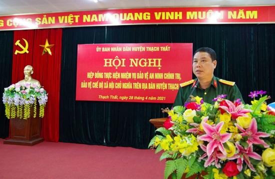 Thạch Thất hiệp đồng thực hiện nhiệm vụ bảo vệ an ninh chính trị, bảo vệ chế độ xã hội chủ nghĩa trên địa bàn huyện
