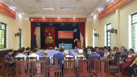 """Hội LHPN huyện tổ chức hội nghị toạ đàm """"Vai trò của phụ nữ trong công tác phòng chống bạo lực gia đình"""""""