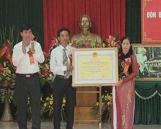 Trường mầm non xã Đồng Trúc đón nhận danh hiệu trường chuẩn Quốc gia giai đoạn 1