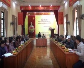 Xã Hương Ngải tọa đàm các giải pháp nâng cao hiệu quả công tác tuyên truyền, vận động Nhân dân thực hiện tang văn minh tiến bộ