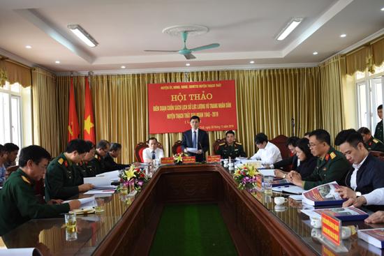 Huyện Thạch Thất tổ chức Hội thảo Lịch sử Lực lượng vũ trang huyện  (1945- 2019)