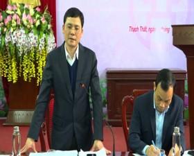 Huyện ủy Thạch Thất giao ban công tác chuẩn bị tổ chức Đại hội Đảng các cấp