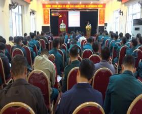 Ban chỉ huy Quân sự huyện: Tập huấn cán bộ Dân quân tự vệ năm 2021