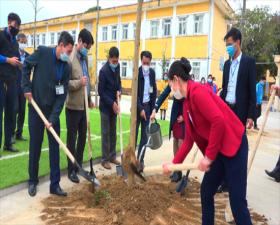 """Xã Đồng Trúc phát động """"Tết trồng cây Đời đời nhớ ơn Chủ tịch Hồ Chí Minh"""" Xuân Tân Sửu năm 2021"""
