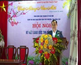 Cụm thi đua Ban Dân vận các huyện, thị phía Tây Hà Nội ký kết giao ước thi đua năm 2020.