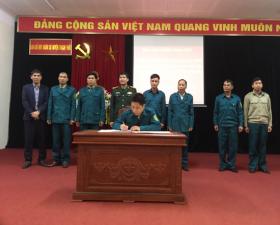 Ban chỉ huy Quân sự huyện phát động thi đua mừng Đảng, mừng Xuân Tân Sửu 2021