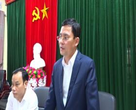"""Thường trực Huyện ủy Thạch Thất làm việc với Đảng ủy xã Yên Bình về công tác chuẩn bị Đại hội """"điểm"""" nhiệm kỳ 2020 - 2025"""