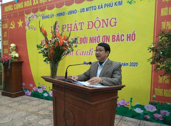 Xã Phú Kim phát động Tết trồng cây Xuân Canh Tý 2020