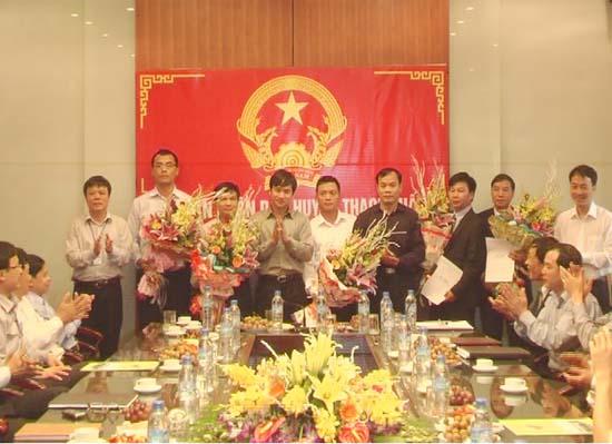 Hội nghị công bố và trao quyết định bổ nhiệm lãnh đạo các cơ quan.