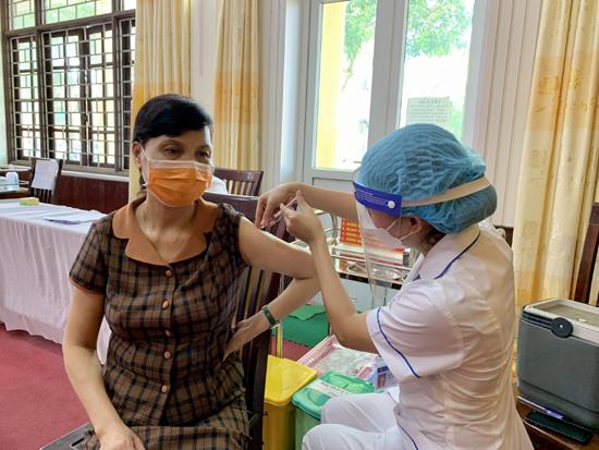 Huyện Thạch Thất hoàn thành tiêm chủng vacxin phòng Covid 19 đợt 5.2021
