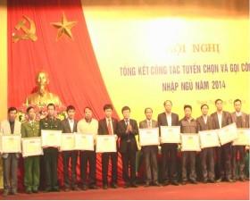 Thạch Thất tổng kết công tác tuyển chọn và gọi công dân nhập ngũ năm 2014.