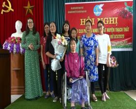 """Hội Người khuyết tật huyện ra mắt Câu lạc bộ """"Phụ nữ khuyết tật huyện Thạch Thất"""""""