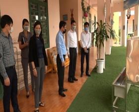 Lãnh đạo huyện Thạch Thất kiểm tra công tác phòng, chống dịch Covid- 19