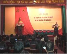Huyện ủy Thạch Thất tổ chức học tập quán triệt Nghị quyết Hội nghị TW8 khóa XI