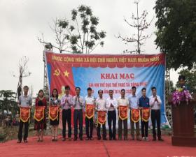 Khai mạc Đại hội Thể dục thể thao xã Đồng Trúc năm 2021