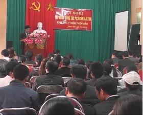 Hội nghị tập huấn công tác phòng chống cúm A H7N9.