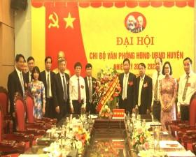 Đại Hội Chi bộ Văn phòng HĐND - UBND huyện Thạch Thất nhiệm kỳ 2020 - 2023