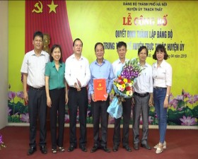 Lễ công bố Quyết định thành lập Đảng bộ Trung tâm y tế huyện Thạch Thất