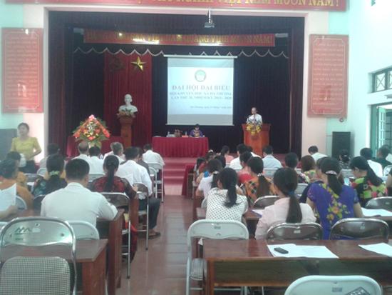 Đại hội Hội Khuyến học xã Hương Ngải lần thứ III, nhiệm kỳ 2017-2022