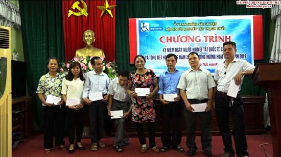 Hội Khuyết tật huyện gặp mặt kỷ niệm Ngày Quốc tế NKT và tổng kết hoạt động năm 2018