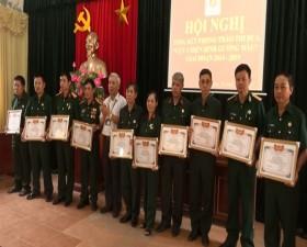 """Hội Cựu chiến binh xã Phùng Xá tổng kết phong trào thi đua """"Cựu chiến binh gương mẫu"""""""