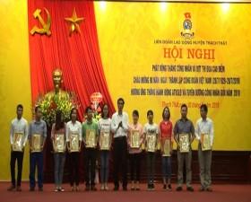 Huyện Thạch Thất phát động Tháng công nhân năm 2019