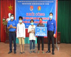 """Khởi công xây dựng """"Ngôi nhà Khăn Quàng đỏ"""" cho học sinh nghèo tại xã Đại Đồng"""