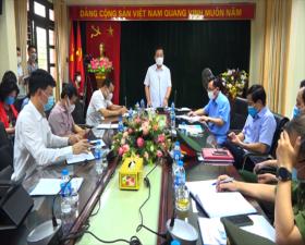 Phó Chủ tịch UBND TP Hà Nội Chử Xuân Dũng kiểm tra và làm việc với Huyện ủy, UBND huyện Thạch Thất về công tác phòng, chống dịch Covid-19