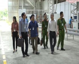 Đoàn kiểm tra liên ngành huyện Thạch Thất kiểm tra công tác An toàn vệ sinh lao động tại 32 doanh nghiệp trên địa bàn huyện