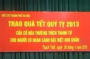 Trào quà tết quý tỵ cho người có hoàn cảnh khó khăn ở huyện Thạch Thất