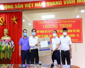 Huyện Thạch Thất tiếp nhận vật tư y tế của các tổ chức, cá nhân trên địa bàn phục vụ công tác phòng, chống dịch Covid- 19