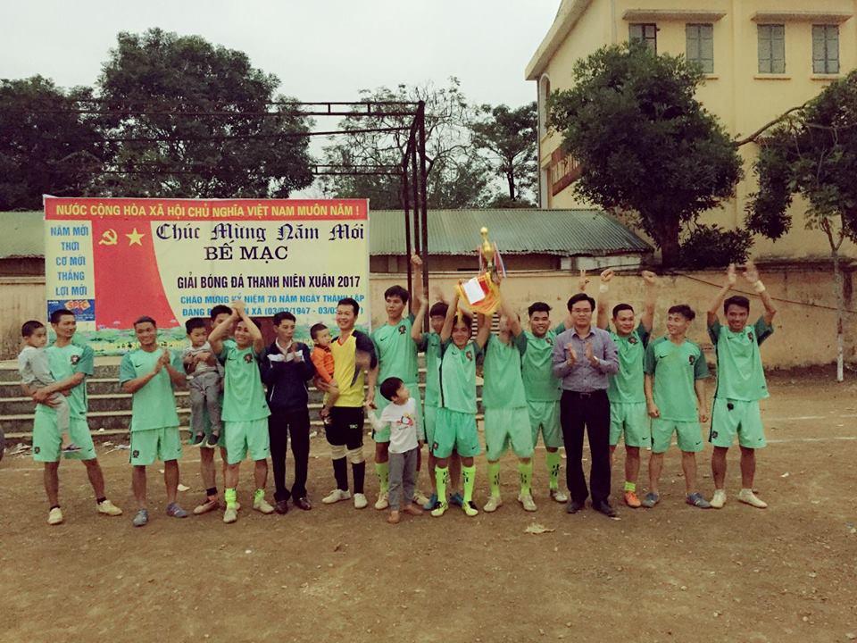 Xã Tân Xã tổ chức giải bóng đá thanh niên xuân Đinh Dậu 2017