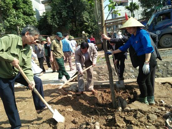 Phú Kim phát động Tết trồng cây.