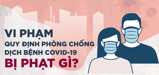 Mức phạt 13 hành vi vi phạm quy định phòng chống COVID-19 tại Hà Nội