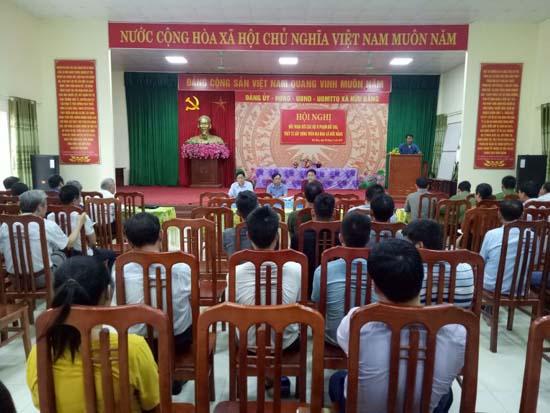 Hội nghị đối thoại với các hộ vi phạm đất đai, trật tự xây dựng trên địa bàn xã Hữu Bằng