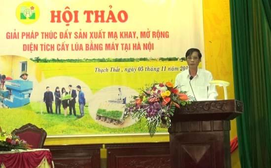 Hội thảo giải pháp thúc đẩy sản xuất mạ khay, mở rộng diện tích cấy lúa bằng máy tại Hà Nội
