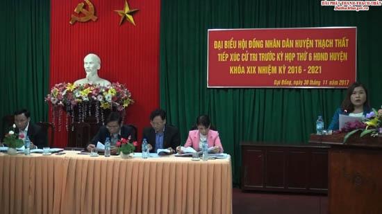 Đại biểu HĐND huyện Thạch Thất tiếp xúc cử tri tại các xã, thị trấn