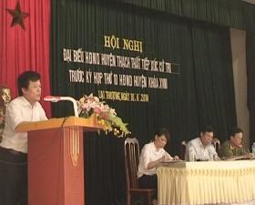 Hội nghị tiếp xúc cư tri trước kỳ họp thứ 10 HĐND huyện khóa 18