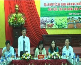 Hội thảo tọa đàm về xây dựng mô hình chuỗi liên kết sản xuất, tiêu thụ nông sản an toàn tại huyện Thạch Thất
