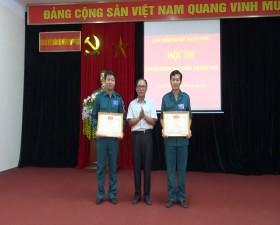 Ban chỉ huy Quân sự huyện tổ chức Hội thi cán bộ giảng dạy chính trị năm 2020
