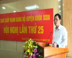 Hội nghị Ban chấp hành Đảng bộ huyện Thạch Thất lần thứ 25 khóa XXIII, nhiệm kỳ 2015-2020