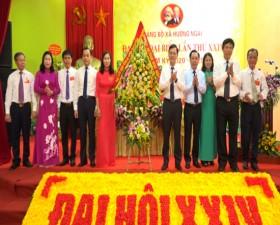 Đại hội Đảng bộ xã Hương Ngải lần thứ XXIV