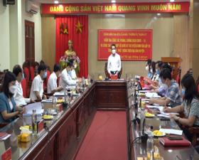 Đồng chí Hoàng Trọng Quyết- Chủ nhiệm Ủy ban Kiểm tra Thành ủy kiểm tra công tác phòng, chống dịch trong Kỳ thi tuyển sinh vào lớp 10 THPT tại huyện Thạch Thất