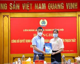 Đồng chí Khuất Thị Khuyên- Phó Chủ tịch LĐLĐ huyện Thạch Thất được tín nhiệm giữ chức danh Chủ tịch LĐLĐ huyện Thạch Thất