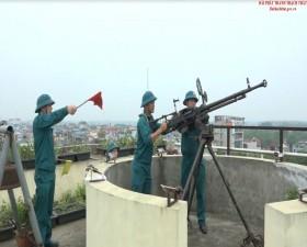 Ban Chỉ huy Quân sự huyện Thạch Thất  khai mạc huấn luyện Trung đội dân quân pháo binh phòng không nhân dân năm 2019