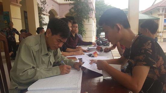 Xã Chàng Sơn tổ chức đăng ký nghĩa vụ quân sự, dân quân tự vệ năm 2019