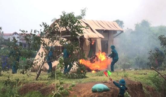 Xã Cẩm Yên diễn tập chiến đấu phòng thủ năm 2019