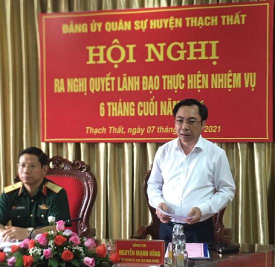 Đảng ủy Quân sự huyện ra Nghị quyết lãnh đạo thực hiện nhiệm vụ 6 tháng cuối năm 2021