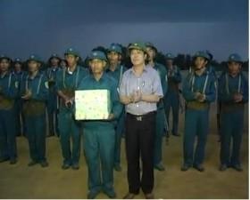 Diễn tập trị an ở xã Hạ Bằng - huyện Thạch Thất
