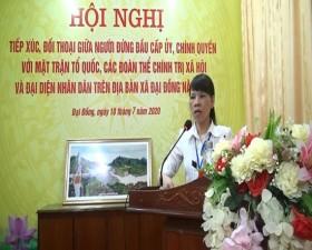 Xã Đại Đồng tổ chức hội nghị đối thoại giữa người đứng đầu cấp ủy, chính quyền với MTTQ, các đoàn thể chính trị- xã hội và đại diện nhân dân